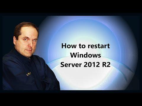 How to restart Windows Server 2012 R2