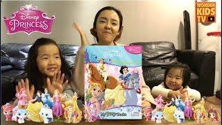 디즈니의 공주를 만나다. 디즈니 프린세스 비지북 피규어책. Disney Princess My Busy Book