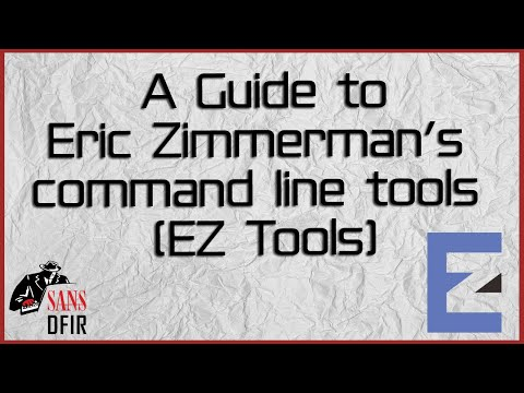 A Guide to Eric Zimmerman's command line tools (EZ Tools)