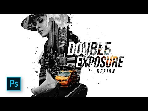 How To Combine Double Exposure & Selective Color Design In Photoshop - Photoshop Tutorials