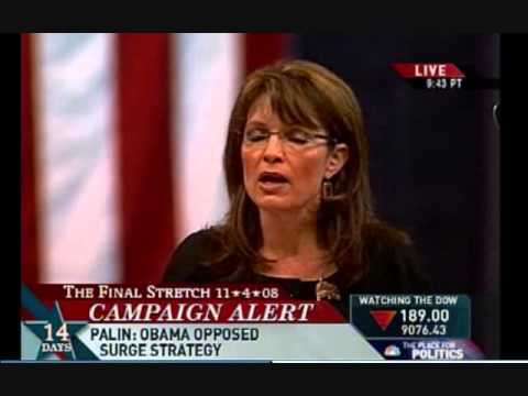 In 2008, Sarah Palin Warned an Obama Presidency would Embolden Putin to Invade Ukraine