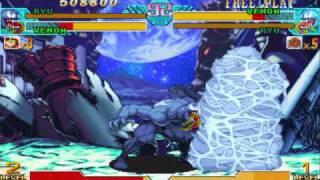 Marvel vs. Capcom 1 Arcade Run - Ryu + Venom