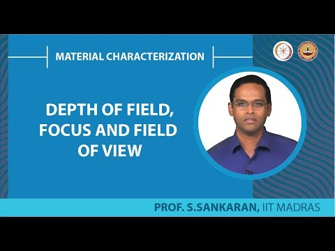 Depth of field,focus and field of view