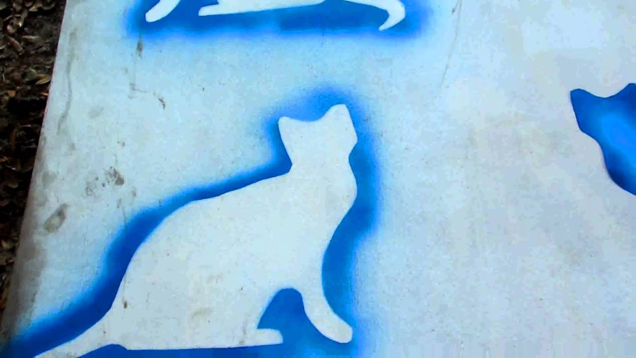 how to make an outdoor cat silhouette youtube