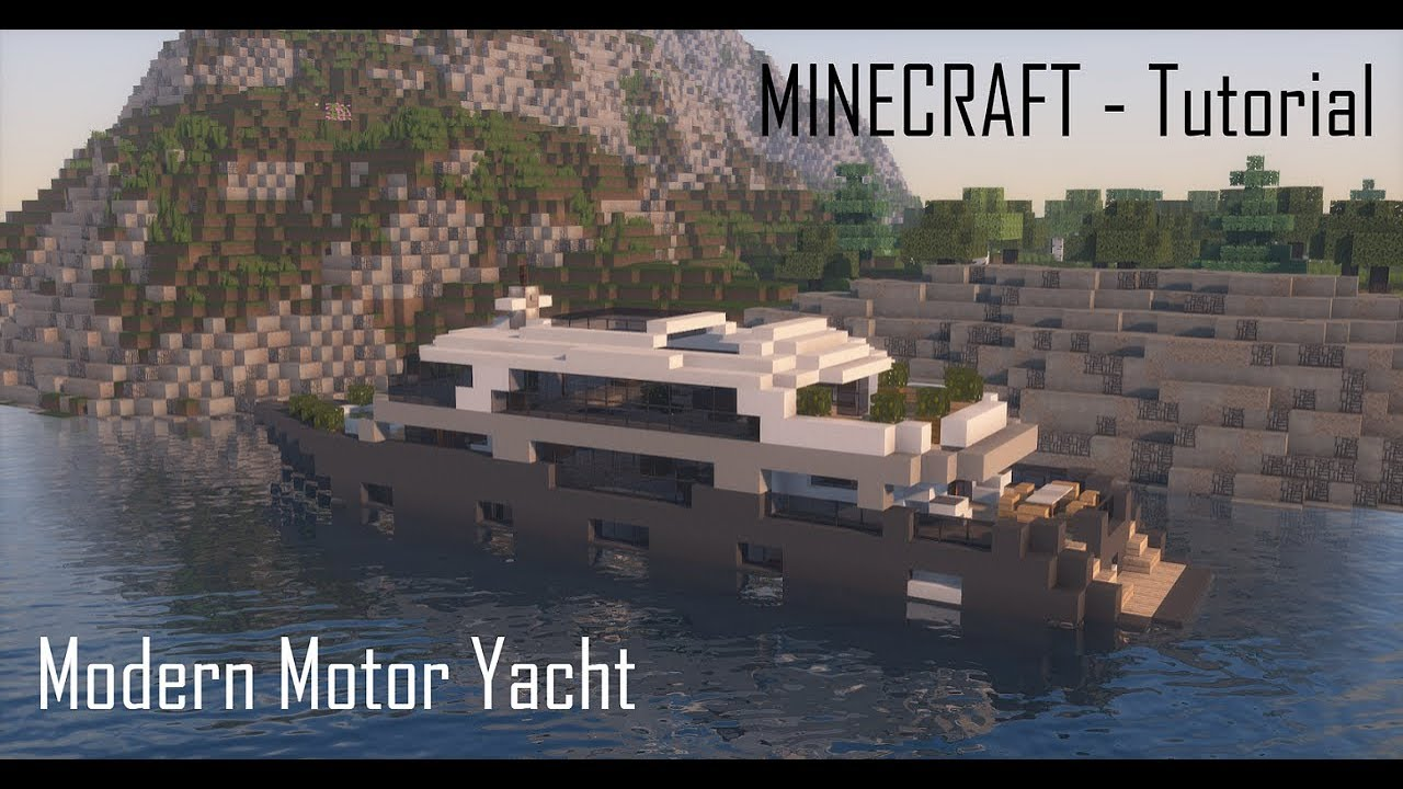Minecraft Modern Motor Yacht Tutorial YouTube