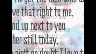 Lyrics- Beyonce - God Bless the USA - Lyrics video iFeel