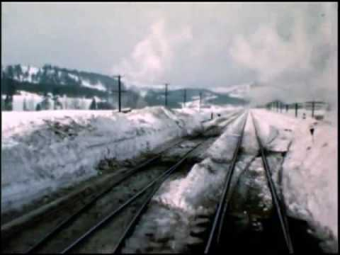 Southern Pacific Railroad 1950s Snow