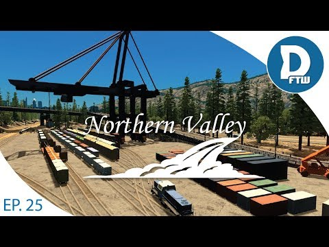 Let's Design Northern Valley Ep.25 - Starting our Cargo & Freight Rail Network - Cities Skylines