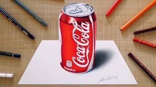 3D Drawing: Coca-Cola can