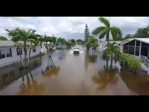 Live Underwater Florida Flood Drone 2017 Davie, FL