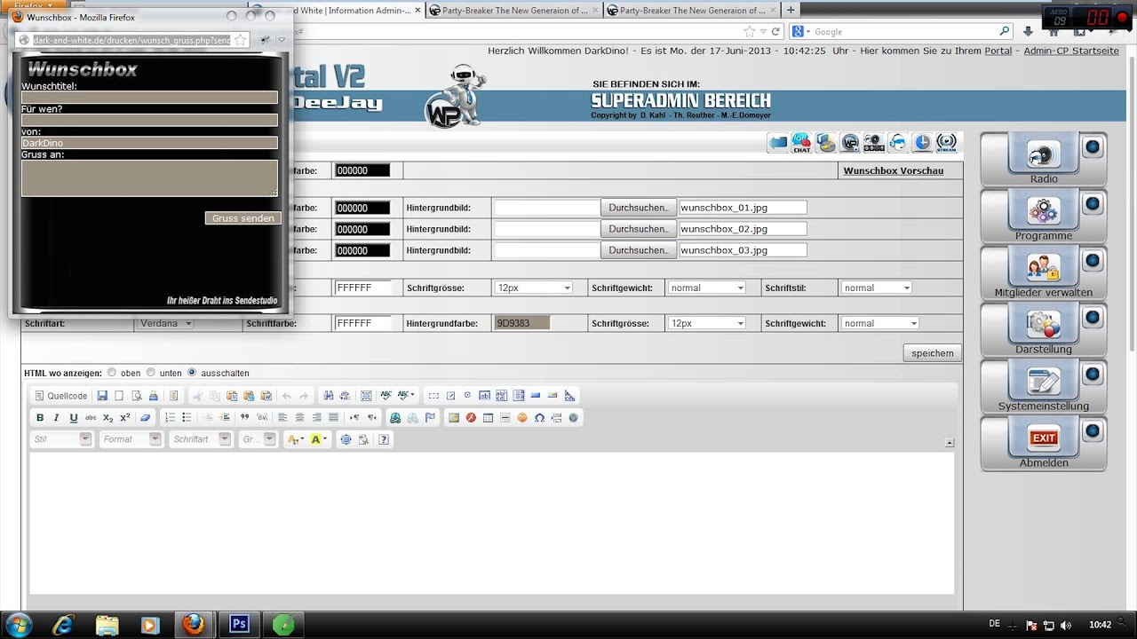 HTML Script: Flatcast Stream Rahmen - DarkDino2010 - YouTube