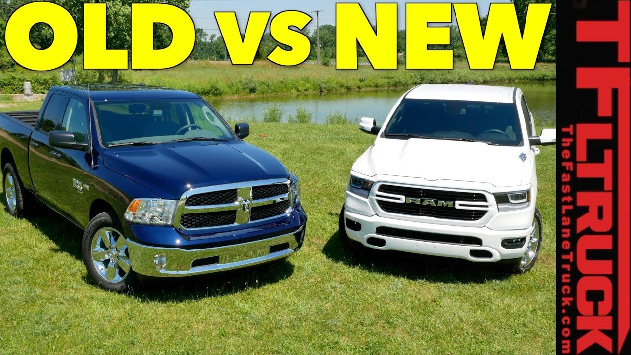 Compared: Crosshairs Grill or Not - 2019 Ram 1500 vs Ram 1500 Classic - YouTube