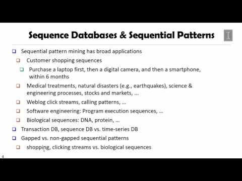 DATA MINING   4 Pattern Discovery in Data Mining   5 1  Sequential Pattern and Sequential Pattern Mi