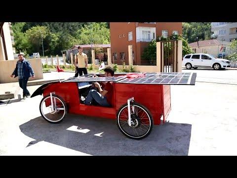 Üniversite öğrencileri güneş enerjisiyle çalışan otomobil yaptılar