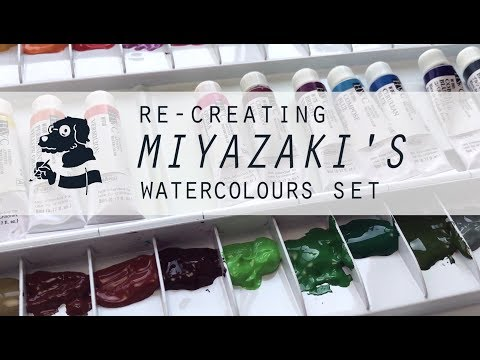Re-creating Miyazaki's watercolours set PART 01