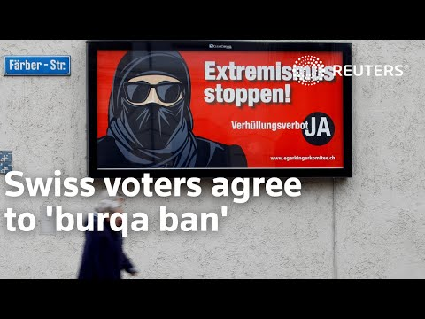 Swiss voters agree to 'burqa ban'