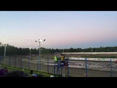 David & I took Rosie to the races & she loved it! We met up with his daughter & the boys. It was great to see my grandsons again! - dirt track racing video image