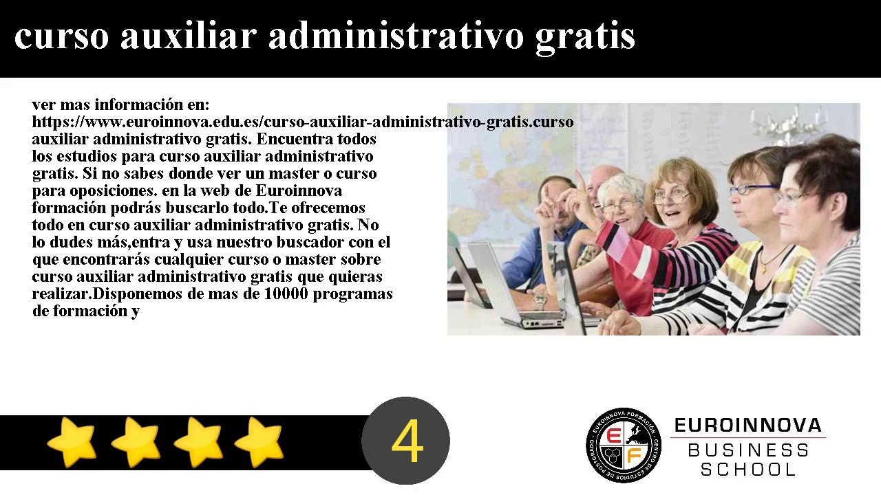 Curso auxiliar administrativo gratis youtube for Curso de interiorismo gratis