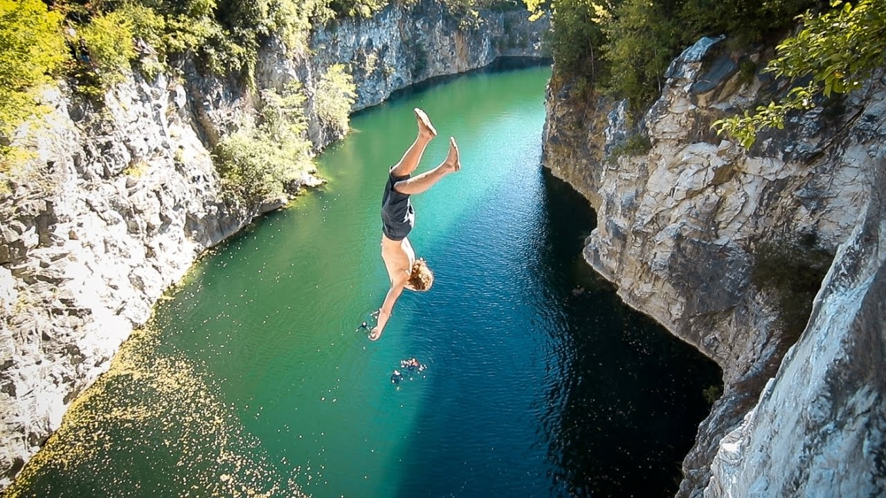 Vermont Cliff Jumping // East X West