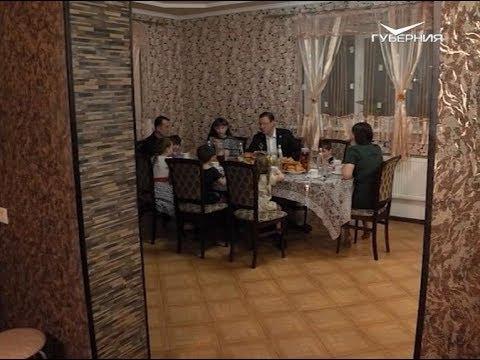 Дмитрий Азаров побывал на новоселье у многодетных самарцев