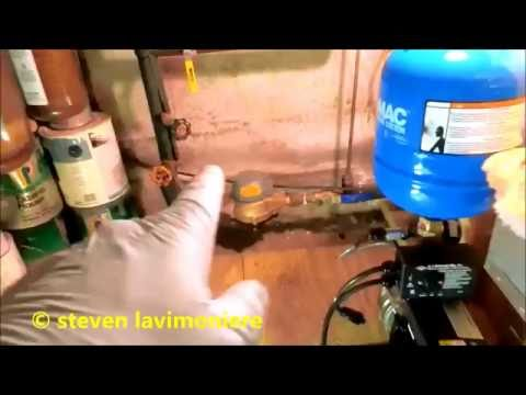 low city water pressure/ booster pump installed part 1 of 2