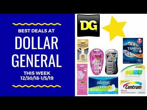 Best Deals at Dollar General this Week! 12/30/18-1/5/19 Freebies?!