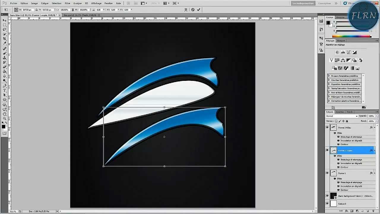 faire un logo d u0026 39 entreprise sous photoshop