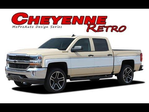 INSTALLATION 2018 Chevy Silverado Retro Cheyenne Vinyl Graphics Decal  Stripes