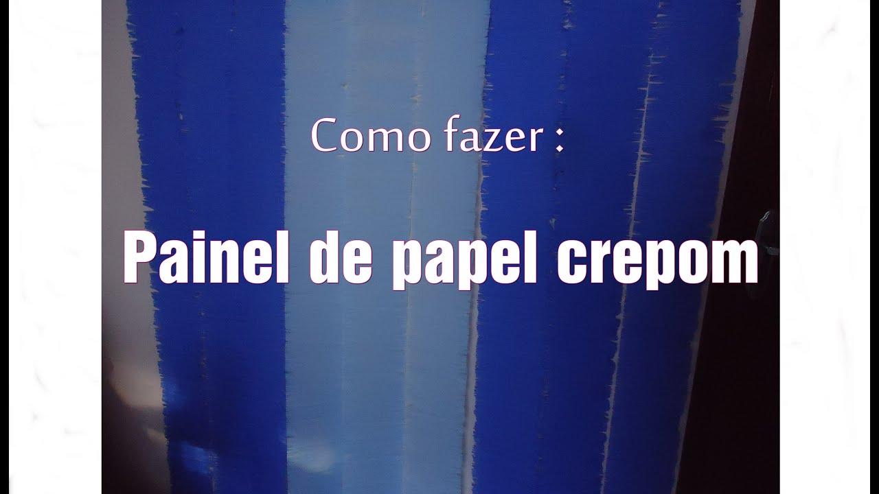 Como fazer Painel de papel crepom para festas Por Tainá Stark YouTube -> Decoração De Papel Crepom Como Fazer