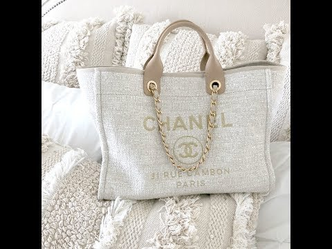 MY CHANEL DEAUVILLE TOTE | REVIEW + WHATS IN MY BAG?!