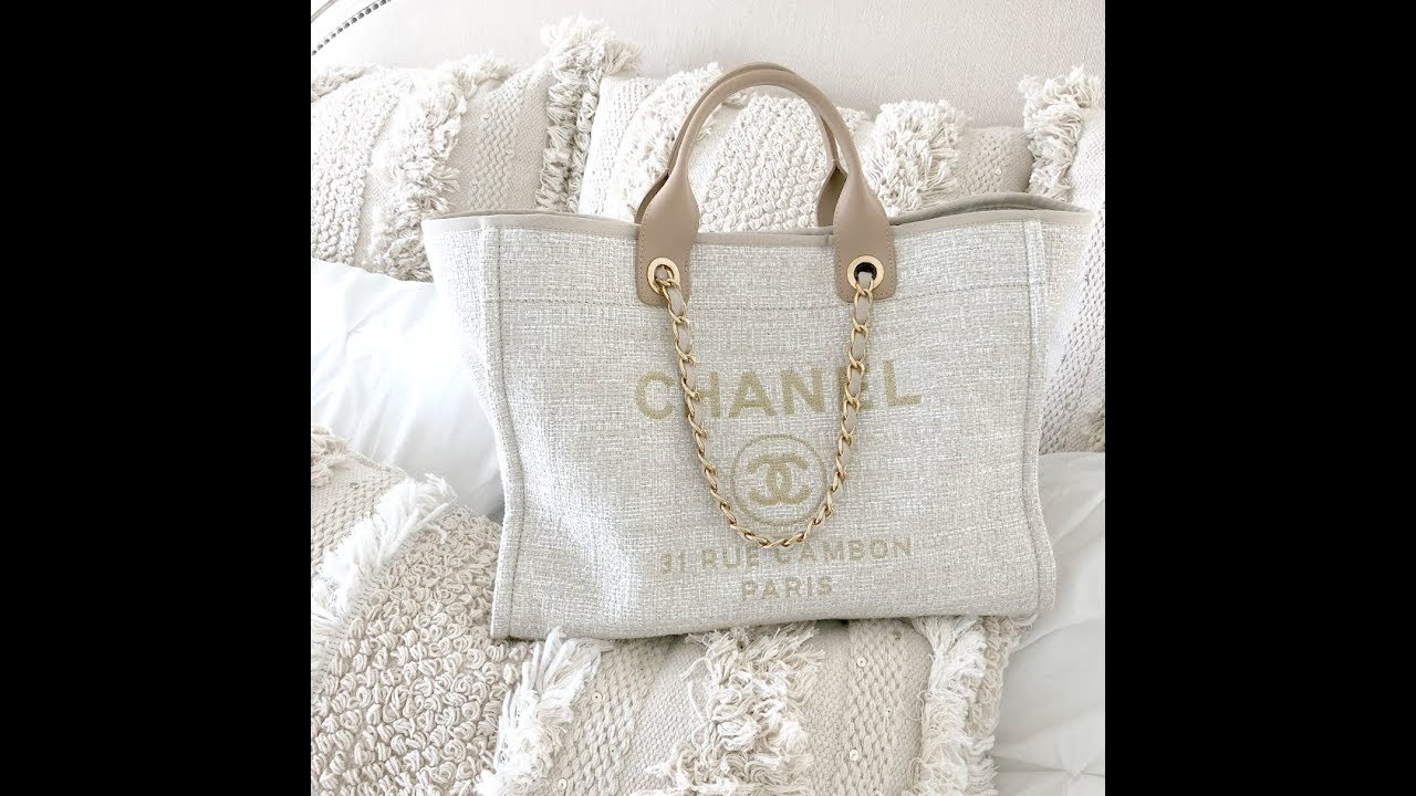 fbcd155bd30c MY CHANEL DEAUVILLE TOTE | REVIEW + WHATS IN MY BAG?! - YouTube