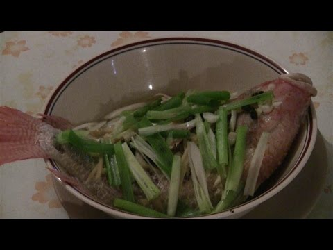 Chinese Steamed Fish With Ginger And Green Onions: Traditional Chinese Cooking