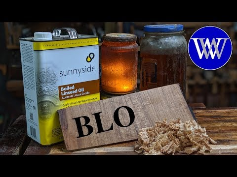 How to Use Boiled Linseed Oil BLO and Paste Wax Wood Finish How To Apply