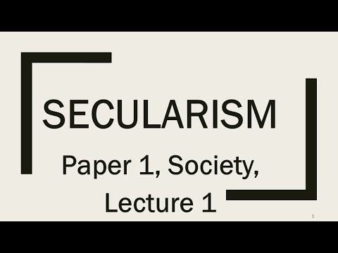 L 1, Secularism,Paper, Society topics for UPSC/IAS/CSE/PCS