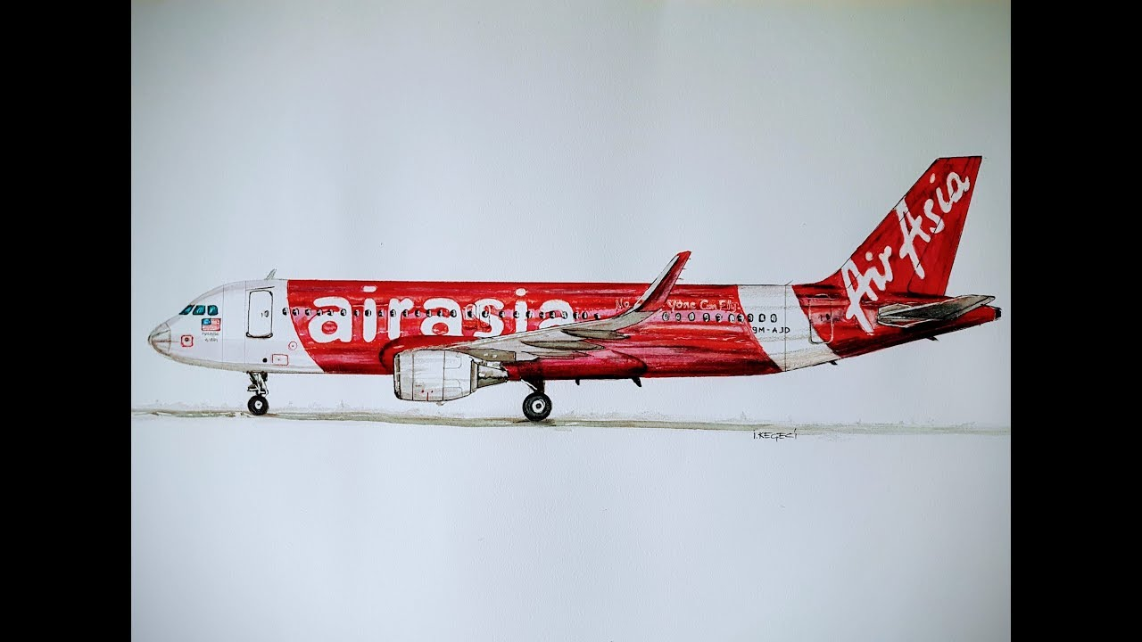 SPEED DRAWING, AIR ASIA,Airbus A320 #1