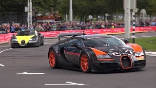 4 x Bugatti Veyron SOUNDS! Grand Sport, 1 of 8 WRC Edition, GS Vitesse