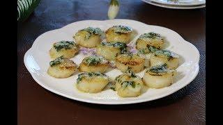 Морские гребешки в чесночно лимонном соусе!