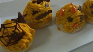 簡単かぼちゃモンブラン*絞り金不要 Easy Pumpukin Cake(Mont Blanc)