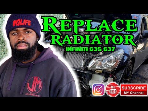 How to replace radiator infiniti G35 G37 Sedan diy