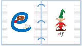 Lowercase Alphabet Letter E Learn to Read and Write