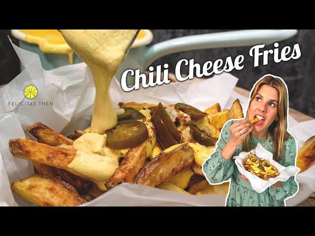 Chili Cheese Fries | die knusprigsten Backofen-Pommes | Felicitas Then