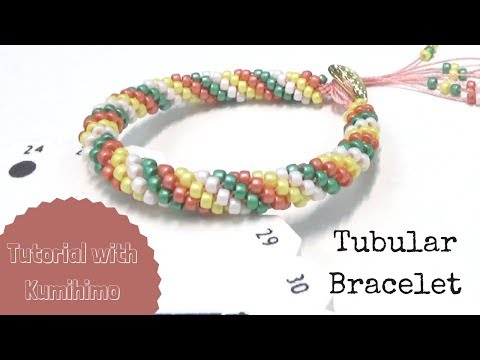 Beading Tutorials with Kumihimo - Tubular Bracelet