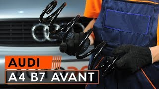 Hoe Ruitenwisserstangen vervangen AUDI A4 Avant (8ED, B7) - video gratis online