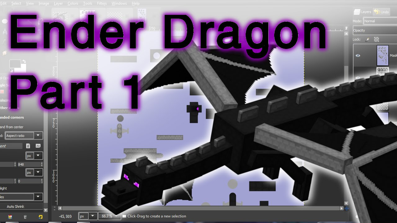 Designing The Bendable Ender Dragon Papercraft Template Part 1