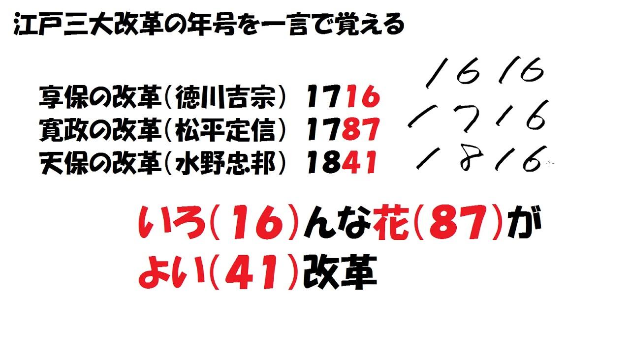 江戸 の 三 大 改革