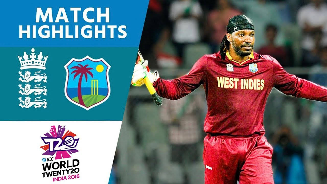 Gayle Smashes 100 Off 47 in Easy Win | England vs West Indies | ICC Men's #WT20 2016 - Highligh