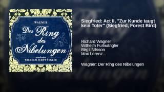 """Siegfried: Act II, """"Zur Kunde taugt kein Toter"""" (Siegfried, Forest Bird)"""