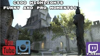 CsGo Twitch highlights. Funny and Pro Moments