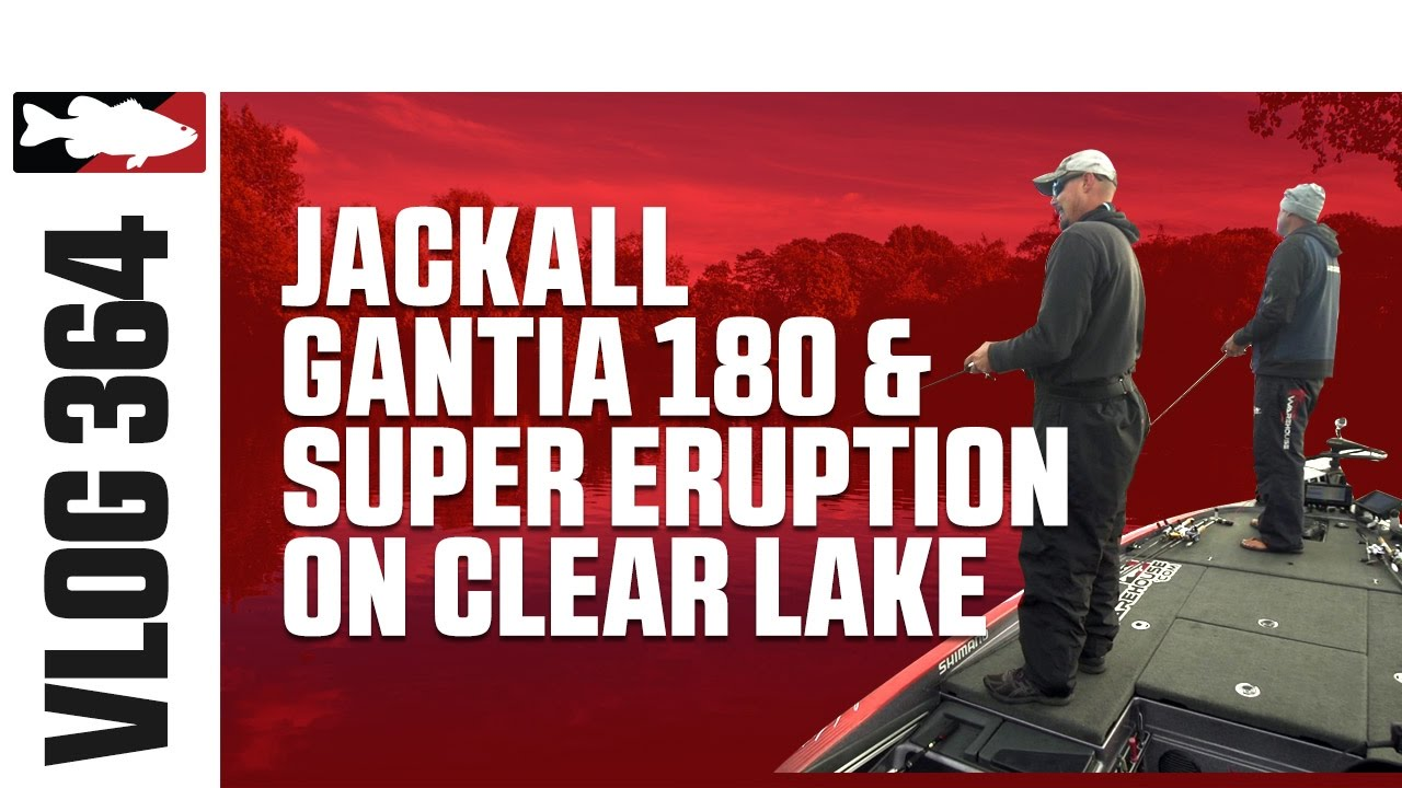Jared Lintner & Alex Davis Fishing the Jackall Gantia & Super Eruption on Clear Lake - TW VLOG #364