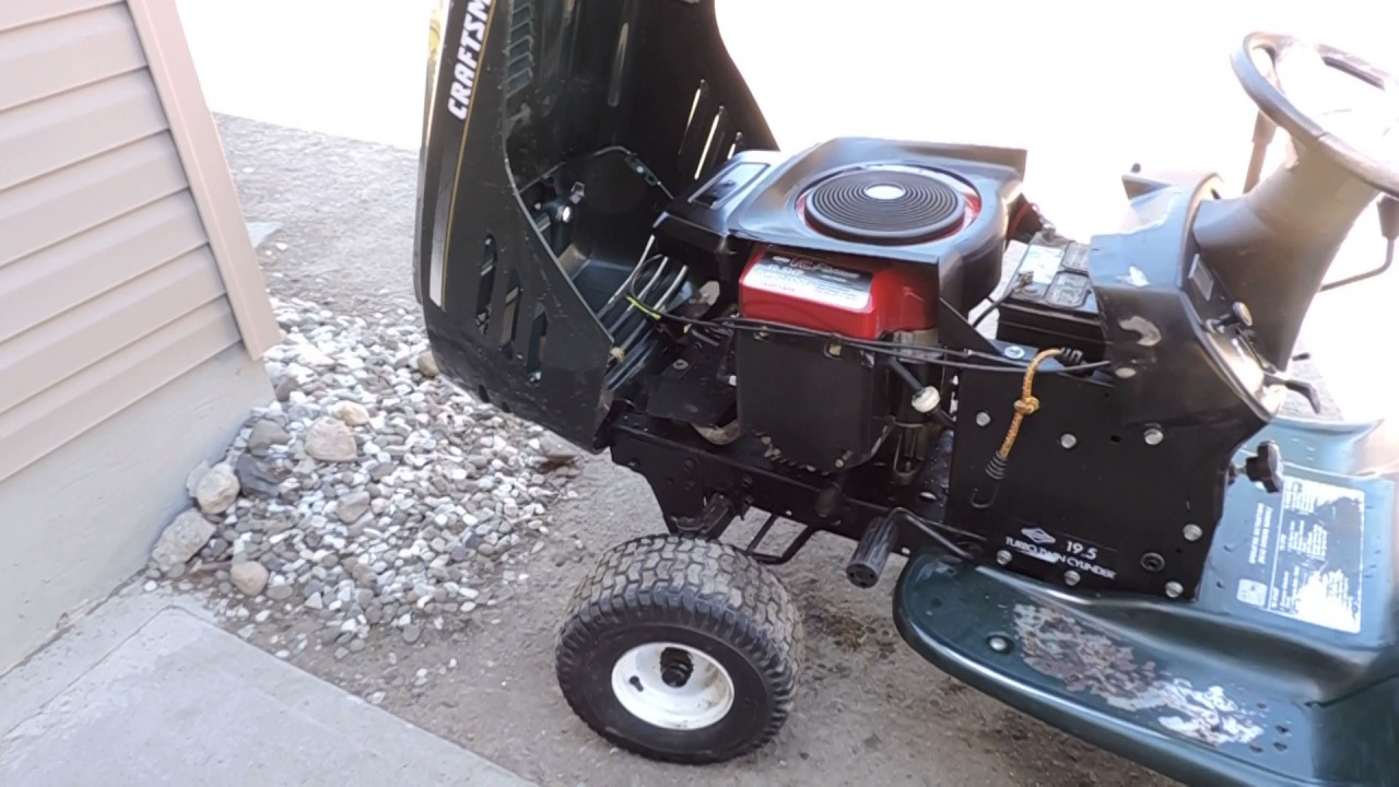 First start with a battery of the Craftsman LT1000 opposed twin trade in